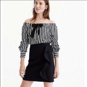 Jcrew ruffle front skirt